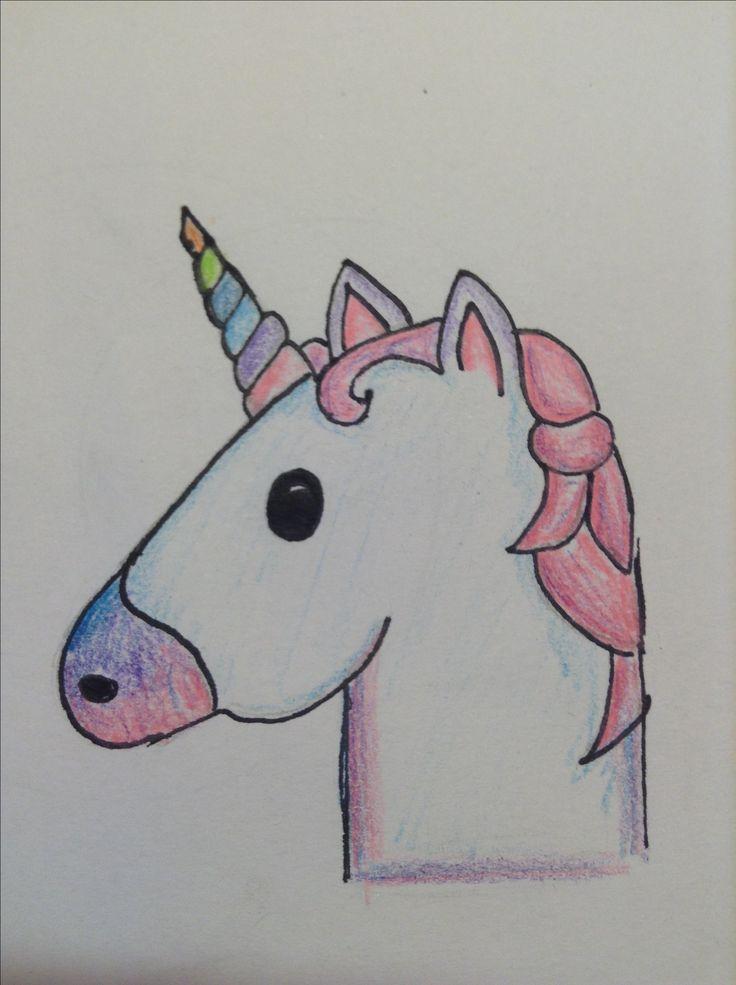 Disegno dell 39 unicorno emoji spero vi piaccia here for Disegni disney facili da disegnare