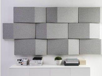 Paneles acústicos decorativos de tela TRILINE WALL - Abstracta