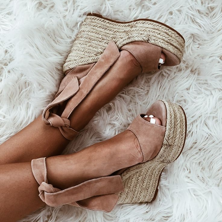 BARCA Blush Suede Lace-Up Tony Bianco Wedges