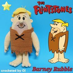 "#crocheteddoll #crochetaddict #designedbyoj #amigurumiaddict #amigurumi #crocheting #crochetoftheday #crochetgeek  #haken #haekeln #Flintstone #barney #Rubble  Bernard ""Barney"" Rubble is a cartooncharacter who appears in the televisionanimated series The Flintstones. He is the diminutive, blond-haired caveman husband of Betty Rubble and adoptive father of Bamm-Bamm Rubble. His best friends are his next door neighbors, Fred and Wilma Flintstone."