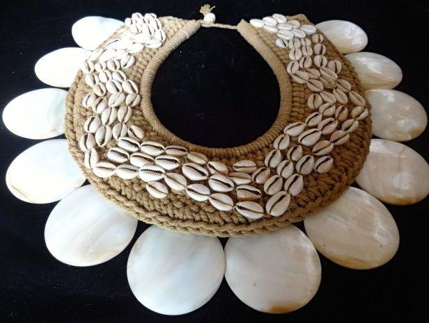 Tribal Shell Necklace Sheer Boho Chic Women Fashion Show Home Decor Designer Art #SavageHarvest