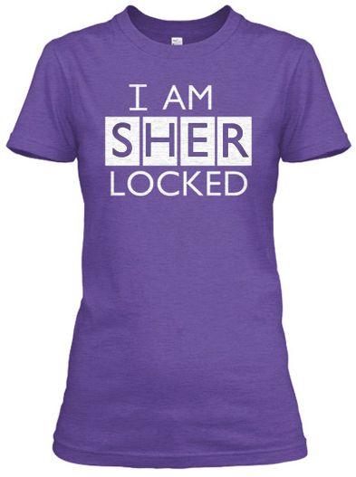 Daily Tee: I am Sherlocked t-shirt design inspired from Sherlock TV series - fancy-tshirts.com