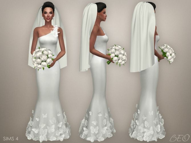 WEDDING VEIL 03 at BEO Creations • Sims 4 Updates