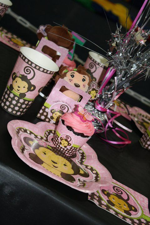 My daughter LOVED your #Monkey Girl theme for her birthday party! Thanks Big Dot! #Pink ~ Girl Birthday Party Ideas ~