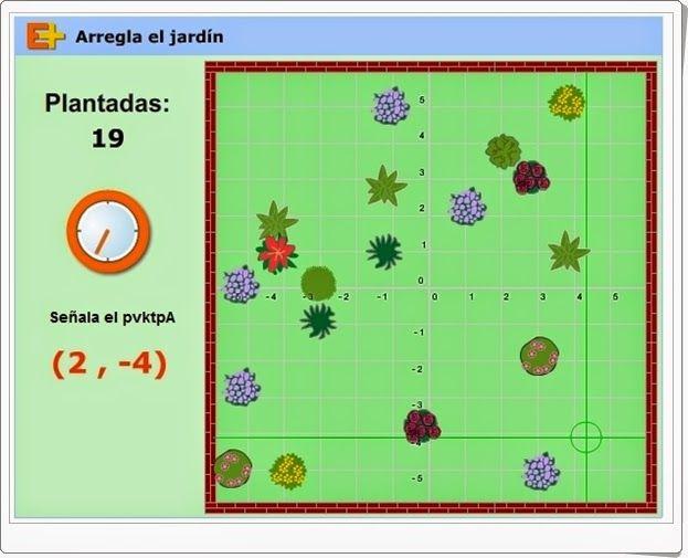 """""""Arregla el jardín"""" es un juego de educaplus en el que es necesario plantar en…"""