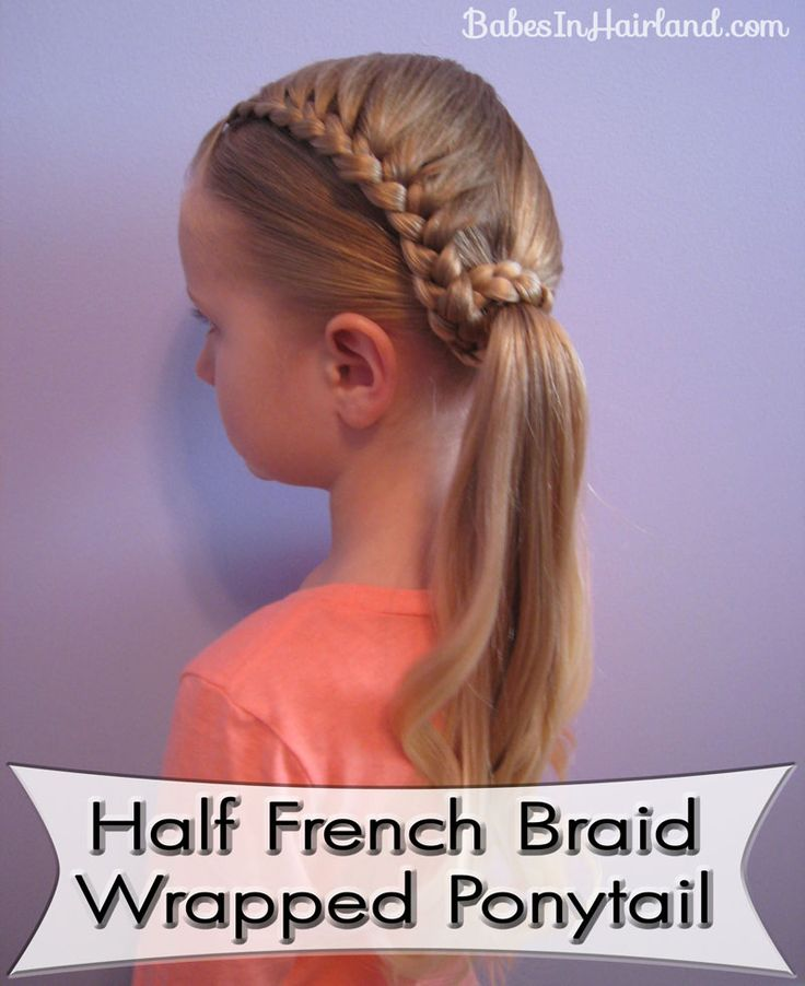Half French BraidGirls Hair Do, French Braids, Little Girls, Braids Wraps, Wraps Ponytail, Girls Hairstyles, Hair Style, Lauren Conrad, Half French