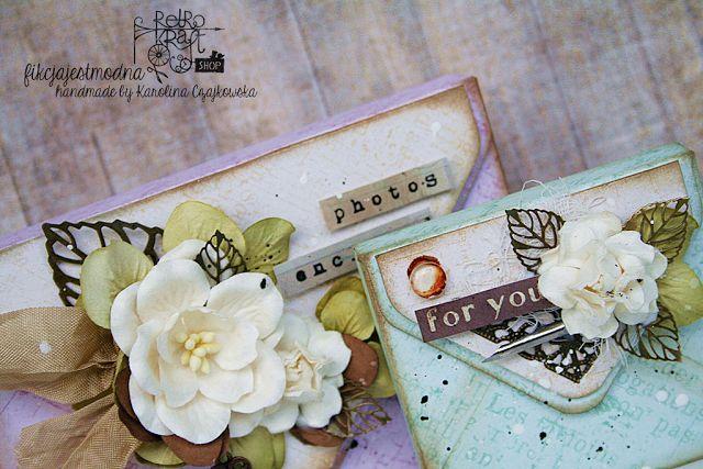 Retro Inspiracje: Magnetyczne koperty Karoliny / Retro Inspirations: Karolina's magnetic envelopes