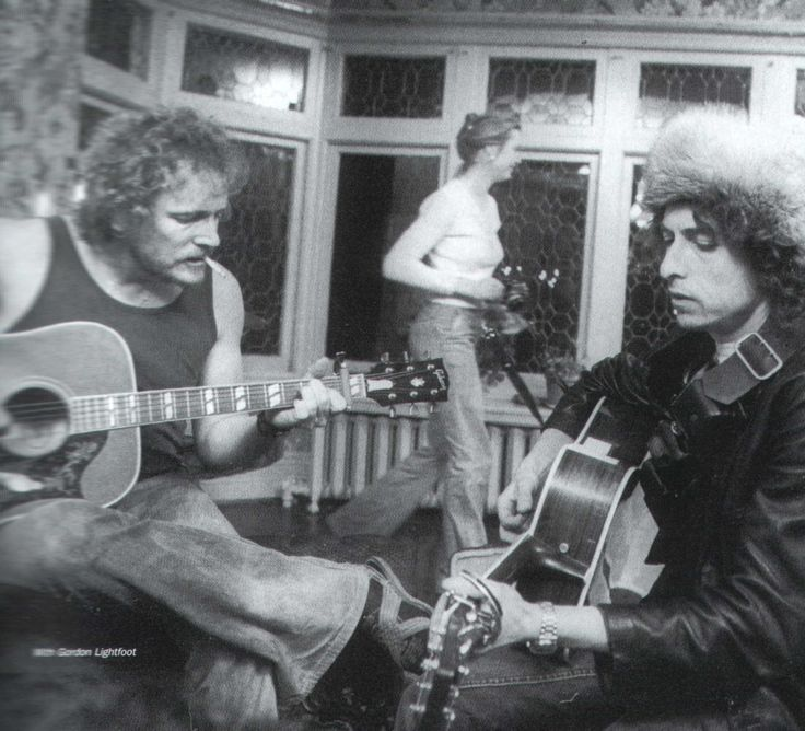 Bob Dylan at Gordon Lightfoot's House in Toronto in 1975
