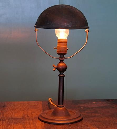 Amazing Vintage Copper Desk Lamp Amazing Pictures
