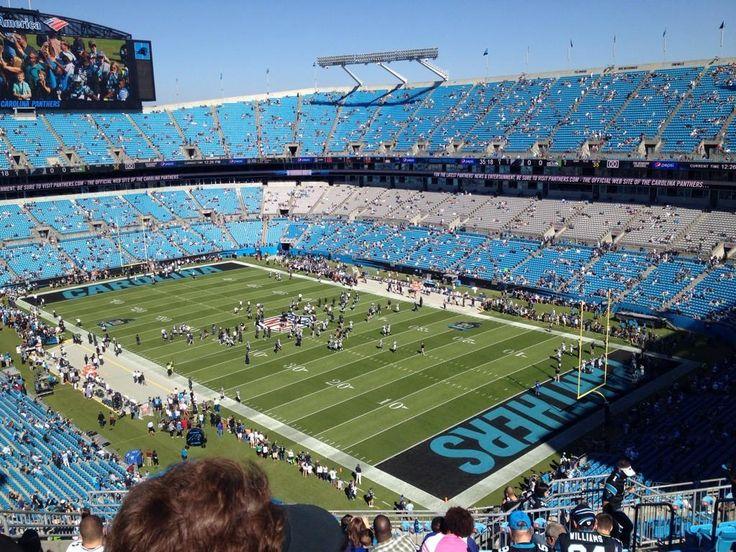 Carolina Panthers football game at Bank of America Stadium in Charlotte, North Carolina.