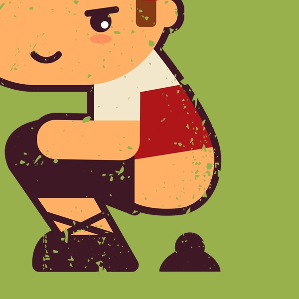 Caganer. Symbolize fertilization and prosperity for the upcoming year. Good Luck!