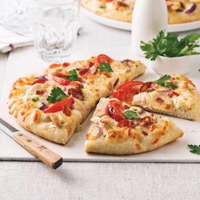 Pizza ranch au poulet et bacon - Soupers de semaine - Recettes 5-15 - Recettes express 5/15 - Pratico Pratique