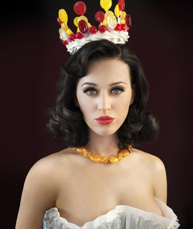 Eye candy: Katy Perry is the queen of sweethearts in this latest shoot to promote her new album
