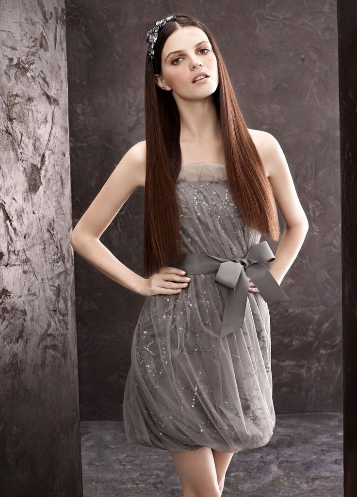 robe de demoiselle d'honneur gris