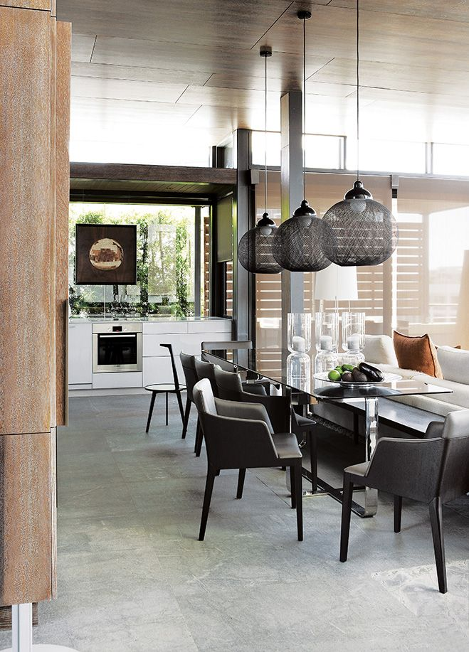Tour A Masculine Luxe South African Penthouse PenthousesCape TownCapesDining AreaDining