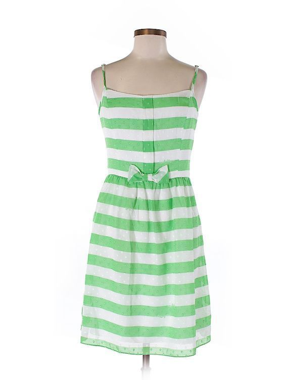 Rare Lilly Pulitzer Green Stripe Dress Size 8 #LillyPulitzer #Shift