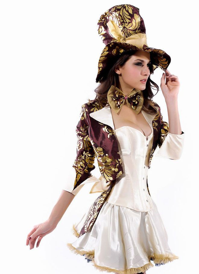 Ladies Sexy Deluxe Steampunk Mad Hatter Renaissance Fancy Dress Costume Outfit | Clothes, Shoes & Accessories, Fancy Dress & Period Costume, Fancy Dress | eBay!