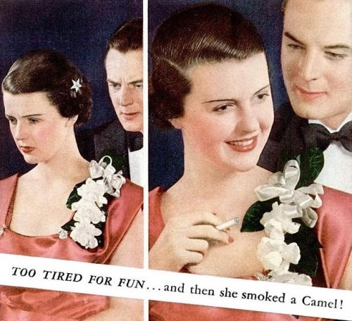 Get more energy by smoking Camel cigarettes (and apparently it will attract men as well!)