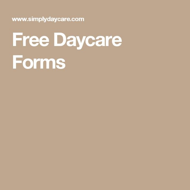 92 best In home daycare images on Pinterest - daycare form