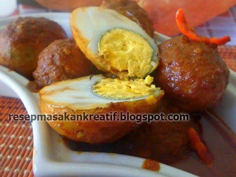Resep Telur Bumbu Petis - Resep Masakan Indonesia