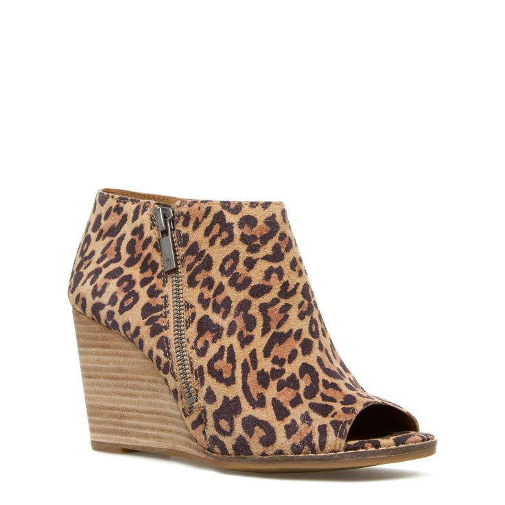 ae77e174a09e Animal Print Wedges Booties ~ Leopard Print Sandals