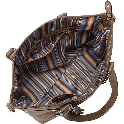 La Diva Convertible Tote with Front Buckle Details - eBags.com