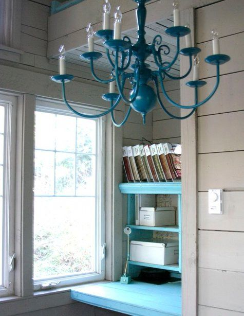 Painted Chandelier.
