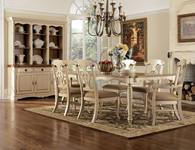 Off White Country Dining Set | The Inspiration   The Vintage Dining Room |  Furniture | Pinterest | White Dining Room Furniture, Room And House
