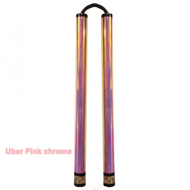 2x Uber chrome nunchaku na lince + pokrowiec - R-Type XMA Gear Treningowa broń biała