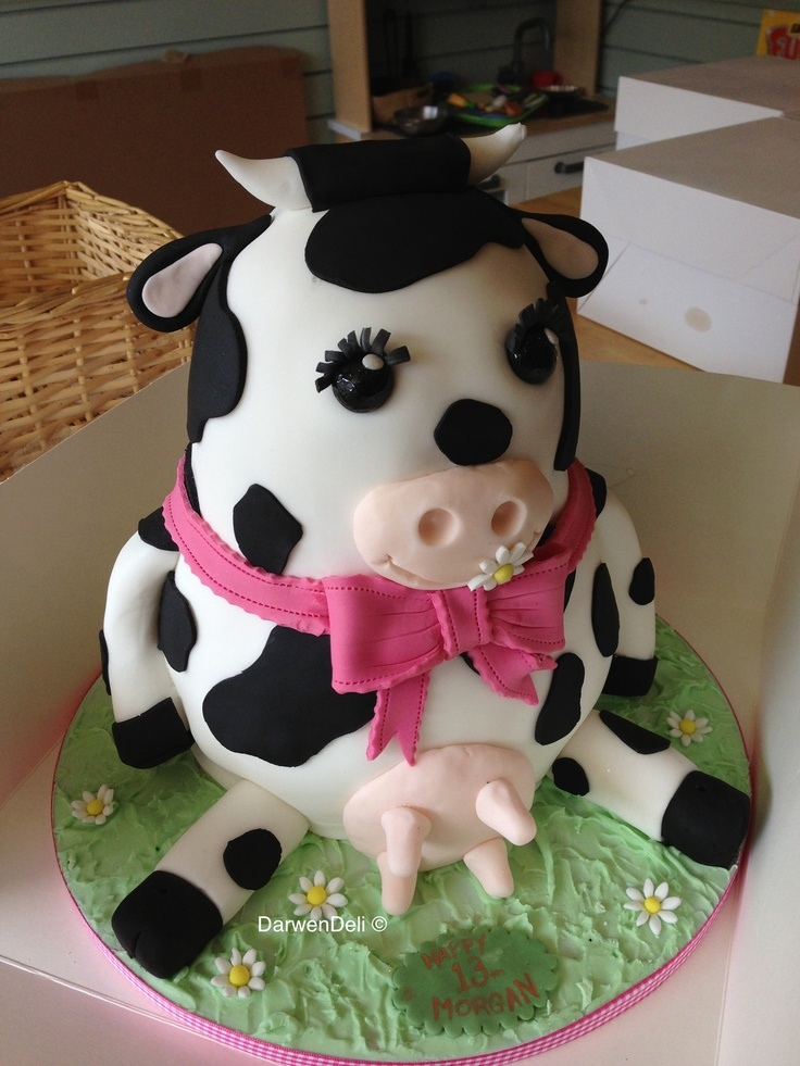 113 best cow cakes images on Pinterest Cow cakes, Animal ...