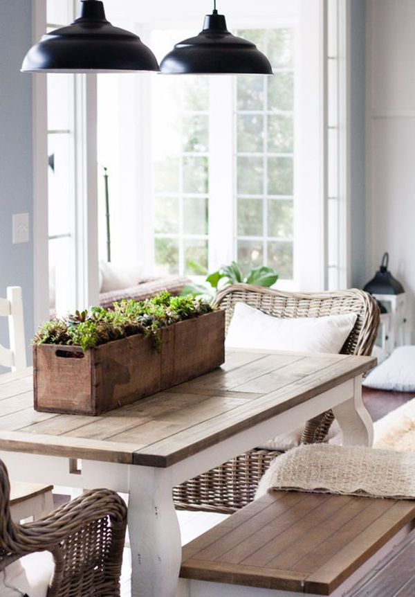 how to make a dining room table look rustic