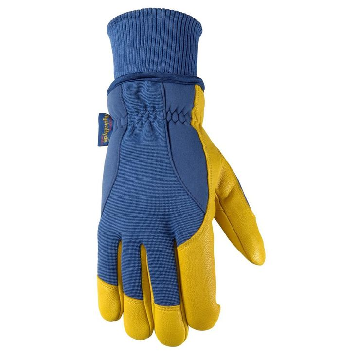 Men's HydraHyde, Insulated Grain Goatskin Leather Work Gloves, Extra-Large, Blue
