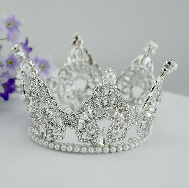 Новинка великолепная жемчужина свадебные диадемы горный хрусталь свадьба корона для невесты головные уборы волосы ювелирных аксессуаров оптовая продажа купить на AliExpress