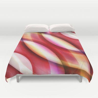 Pattern red Duvet Cover by Christine baessler - $99.00