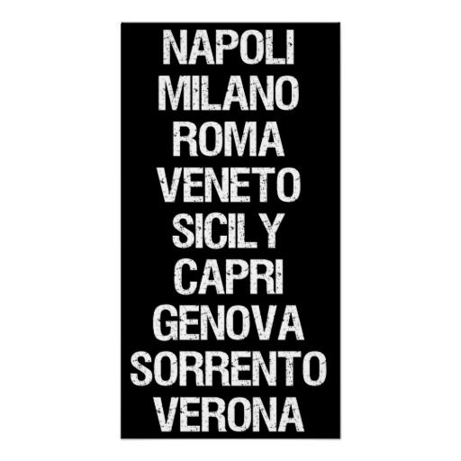 Cities of Italy Posters