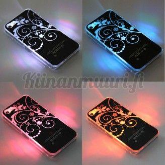 Väriä vaihtava kukka LED-suojakuori iPhone 4S, 5S