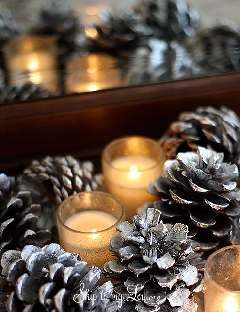 Best pine cones diy images on pinterest christmas