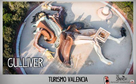 El Gulliver, parque de toboganes. Lugares turisticos de Valencia Que ver en Valencia, turismo Valencia, España