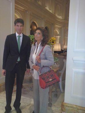 #SophiaLoren at #BoscoloExedraRoma