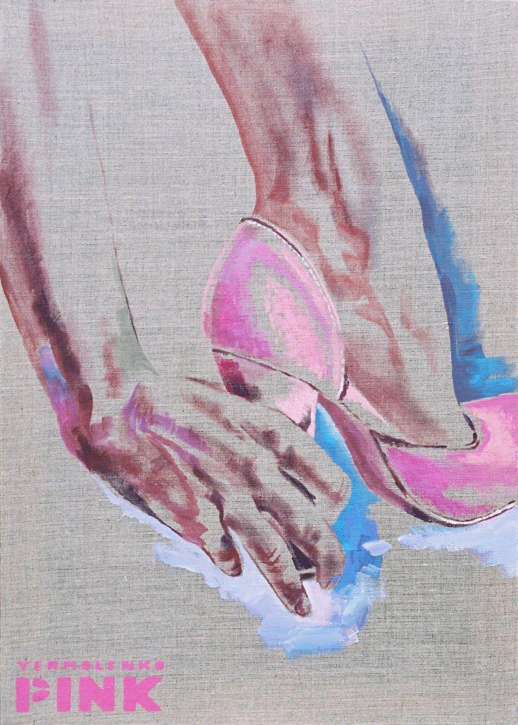 "Юрий Ермоленко, ""РУКА СУДЬБЫ"", (серия ""ПИНК""), 2007, акрил, негрунтованный холст, 80x55 см. #YuryErmolenko #ЮрийЕрмоленко #yuryermolenko #юрийермоленко #ermolenko #юрiйєрмоленко #ЮрiйЄрмоленко #rapanstudio #acrylicpainting #ErmolenkoYury #acrylic #color #paint #picture #canvas #portrait #art #creative #fineart #visualart #artcontemporary #contemporaryart #modernart #PINK #texture #canvastexture #color #colorful #painting #glamorous #lovely #cute #sexy #hot #sensual #hand #fate #живопись"