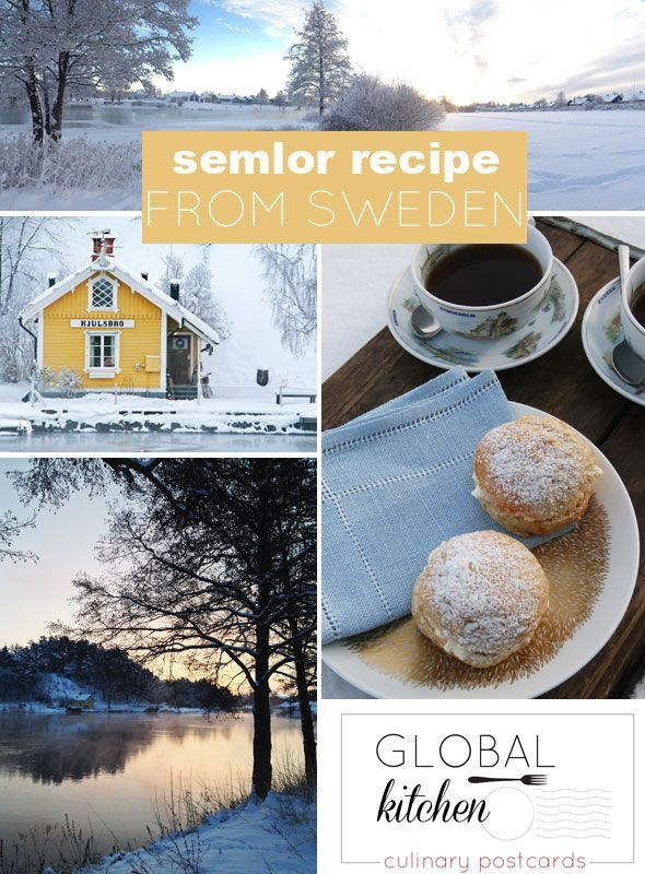 Global Kitchen: semlor recipe from Sweden...
