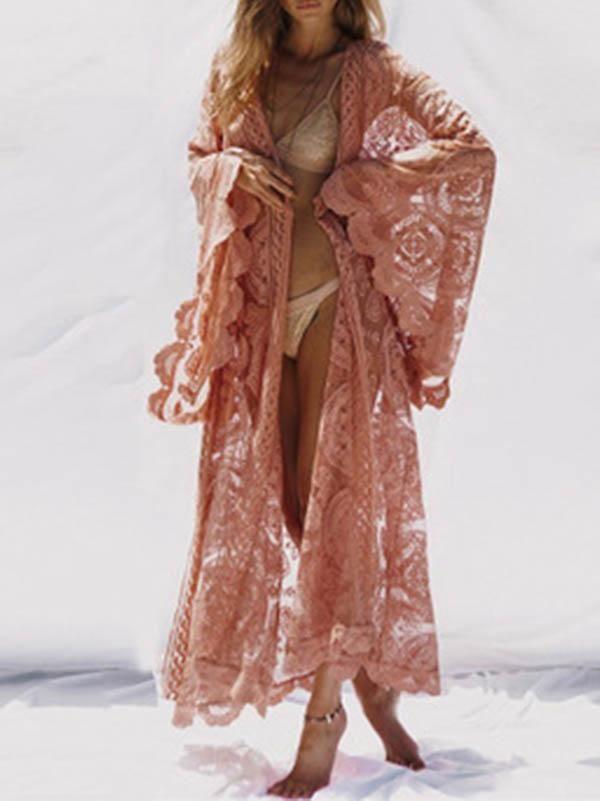 New Mandala Flared Long Sleeve Boho Style Top up to Plus Size