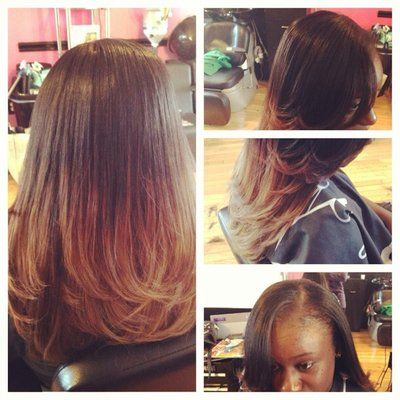 Brazilian Weave Hairstyles | full weave ombre custom color | Yelp