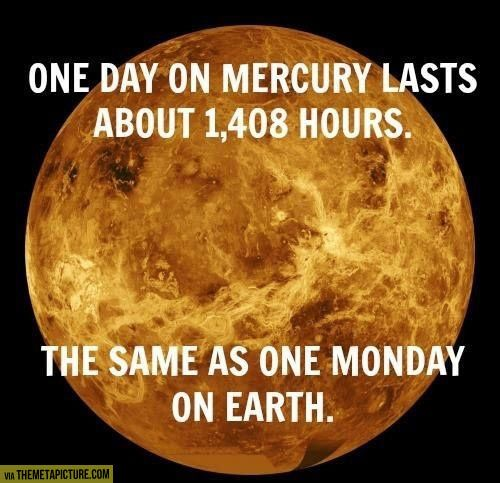 One day on Mercury...