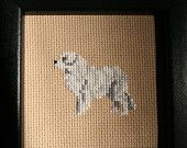 Great Pyrenees Cross Stitched Full Body Dog.