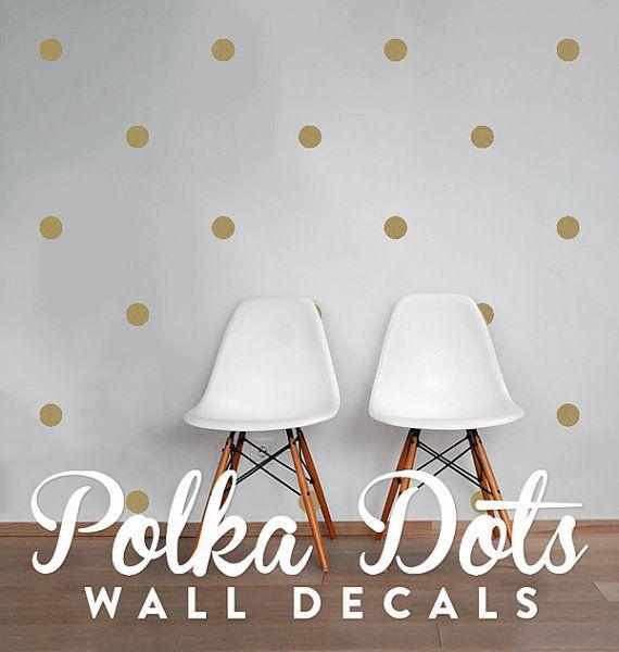 Mini Polka Dot Confetti Circle Wall Decals, Geometric Wall Design, Customize Nursery and Interior Walls WAL-GEO1