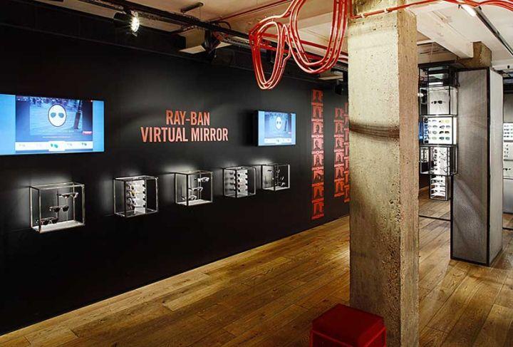 Ray Ban concept store lunettes glasses sunglasses soleil virtual mirror miroir virtuel london londres 6