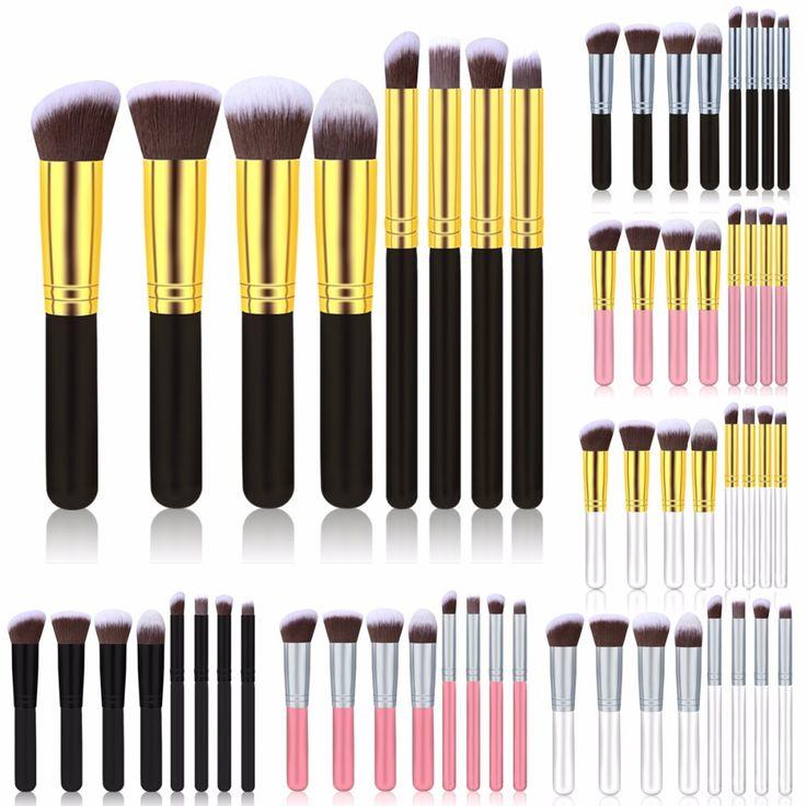 Pro Rosa Pennelli Trucco 8 Pz Maniglia Capelli Sintetici Cosmetici Powder Kabuki Blush Spazzole Strumenti Per Il Trucco Set