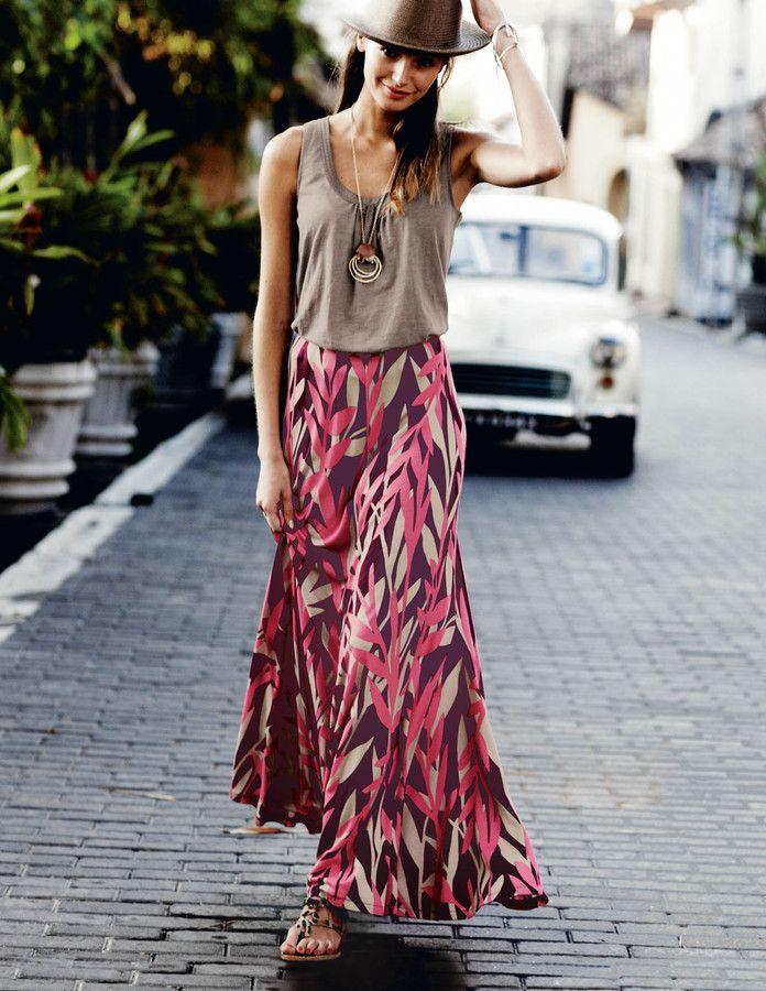 Boden Swishy Maxi Skirt