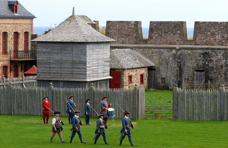 """""""The Garrison"""" at Louisbourg Fortress."""